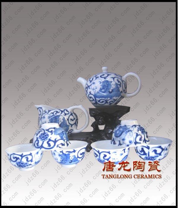 供应手绘青花茶具高档精品茶具