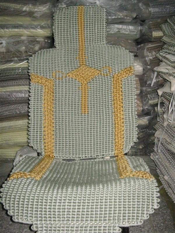 独特工艺手工编织高档汽车坐垫   手工编织汽车坐垫生产供高清图片