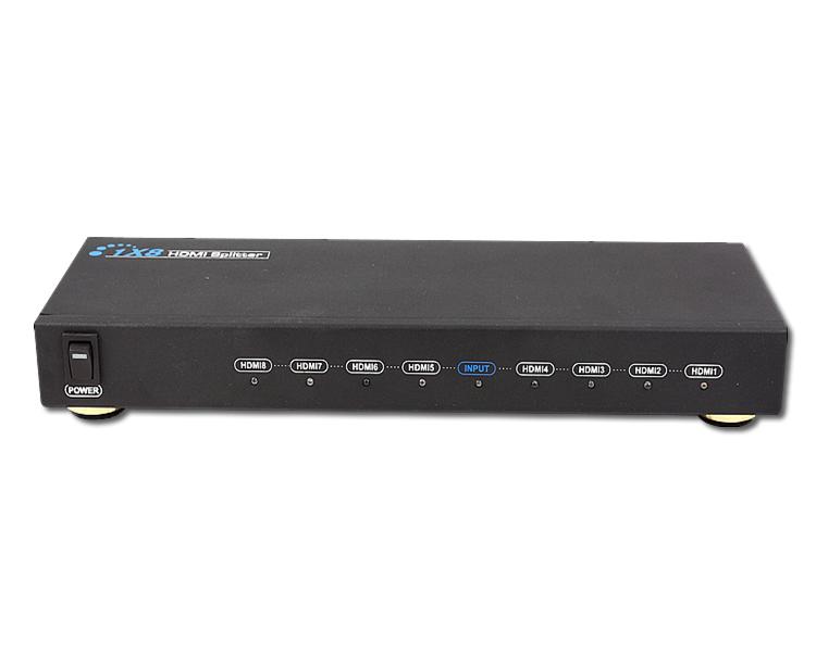 ...8 HDMI信号分配器.是将1路HDMI信号无损耗的分配出8路HD