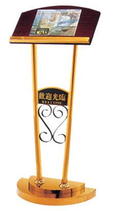欧式广告立牌立式水牌指示牌告示牌木不锈钢