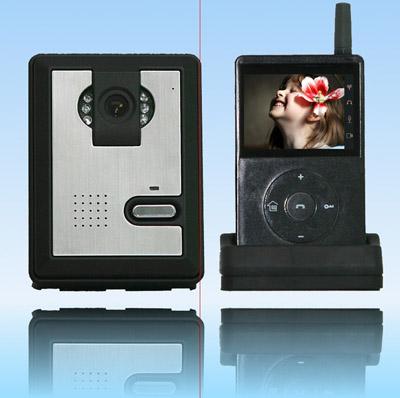 多功能无线彩色可视门铃图片_多功能无线彩色可视门铃