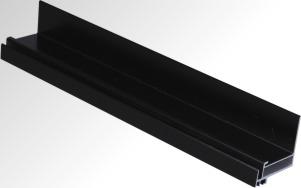 供应苏州电泳黑色太阳能边框铝型材厂家