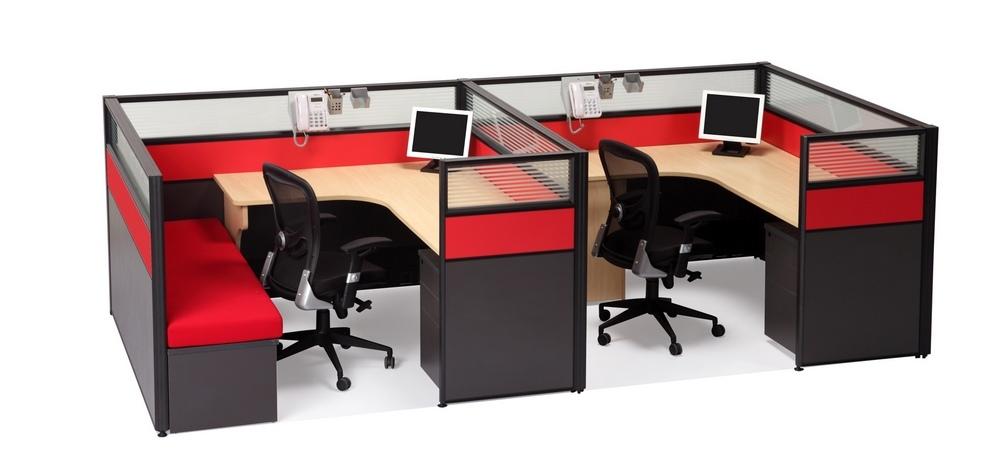 办公家具屏风式办公桌图片