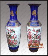 陶瓷花瓶粉彩瓷花瓶商务礼品图片