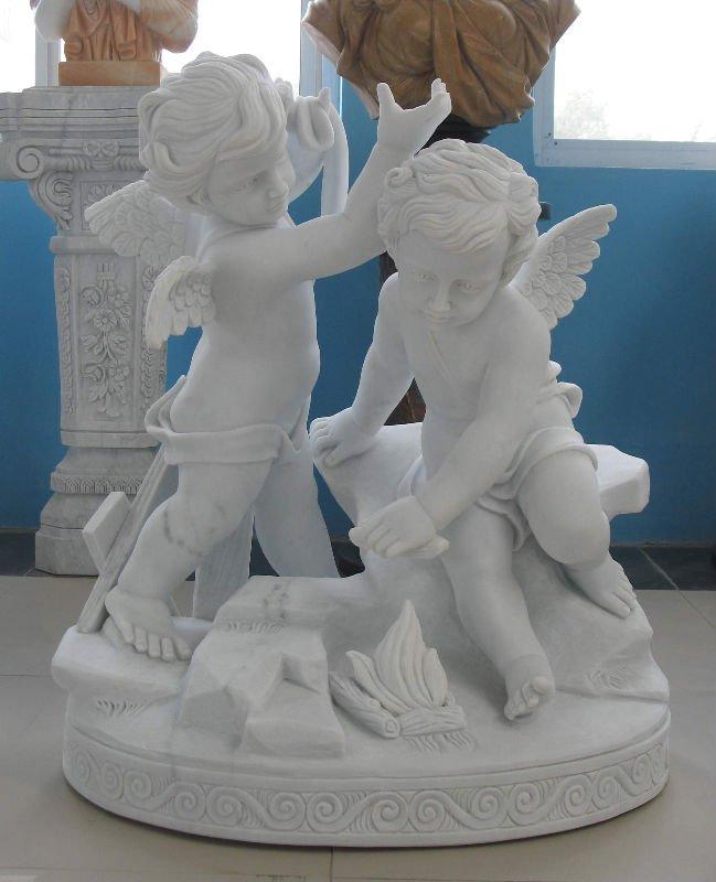 汉白玉西方人物雕塑图片