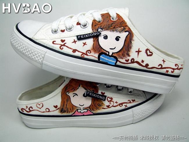 个性手绘鞋涂鸦鞋图片