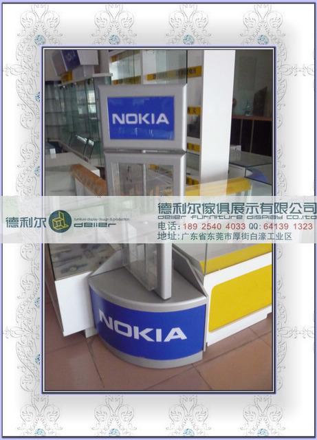机柜图片 机柜样板图 诺基亚木质手机柜 东莞手机柜
