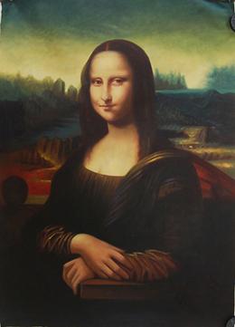 油画蒙娜丽莎的微笑报价图片