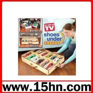 12格素色透明收纳鞋盒图片