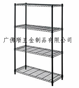 供应DIY四层黑色置物架层架储物架多功能置物架图片
