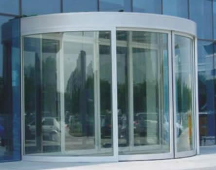云南弧形门玻璃自动门半圆弧形门图片