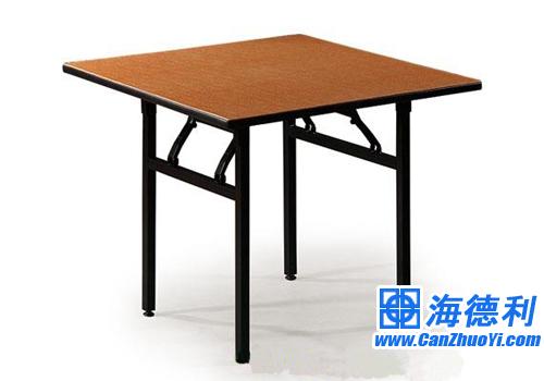 司生产供应折叠餐桌酒店桌图片