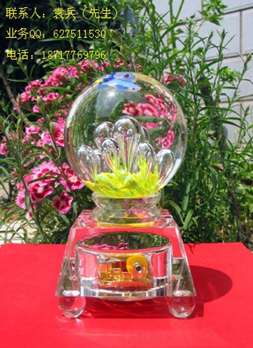 水晶球制作厂家水晶篮球足球装饰球图片|水晶
