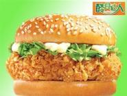 炸鸡汉堡技术培训供应原料图片